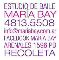 Estudio de Baile Maria Bay - 4813.5508 - info@mariabay.com.ar - Arenales 1596 PB Recoleta